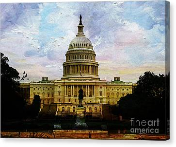 Capitol Building, Washington, D.c 007 Canvas Print by Gull G