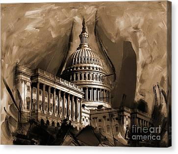 Capitol Building, Washington, D.c-001 Canvas Print by Gull G