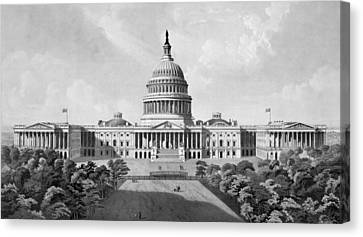 Capital Canvas Print - Us Capitol Building by War Is Hell Store