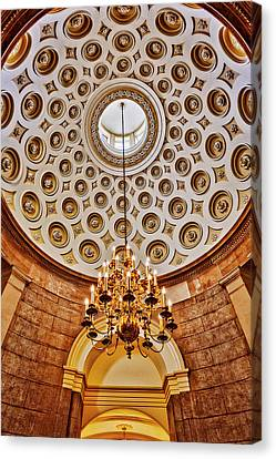 Canvas Print featuring the photograph Us Capitol Rotunda Washington Dc by Susan Candelario