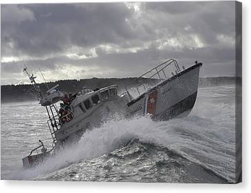 On The Move Canvas Print - U.s. Coast Guard Motor Life Boat Brakes by Stocktrek Images
