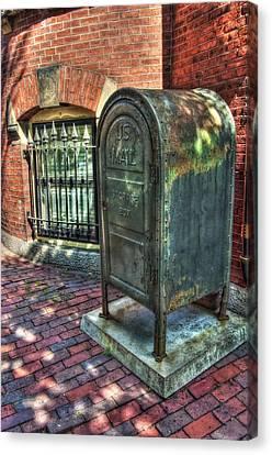 U.s. Mail - Beacon Hill - Boston Canvas Print by Joann Vitali