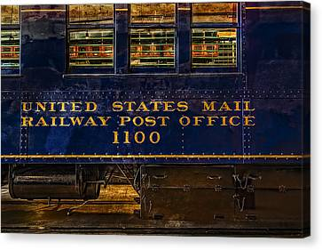 Us Mail Railway Post Office Train Canvas Print by Susan Candelario