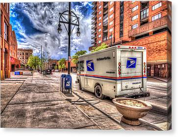 Us Mail Truck Canvas Print by Spencer McDonald
