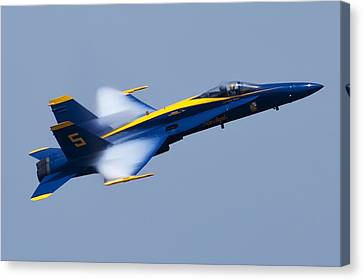 Us Navy Blue Angels High Speed Pass Canvas Print