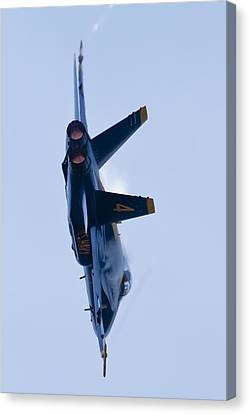 Us Navy Blue Angels High Speed Turn Canvas Print by Dustin K Ryan