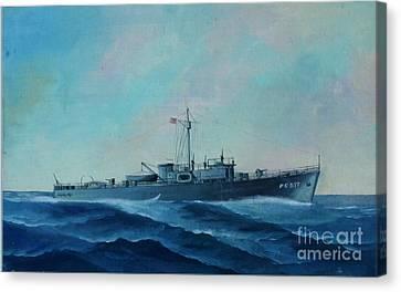 Us Navy Ship Pc577 Canvas Print by John Black