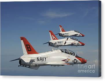 U.s. Navy T-45 Goshawk Training Canvas Print by Stocktrek Images