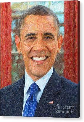 U.s. President Barack Obama Canvas Print