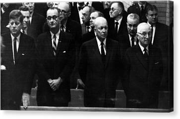 Us Presidents. From Left Us President Canvas Print