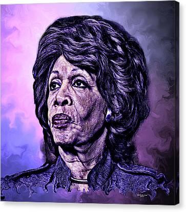 Us Representative Maxine Water Canvas Print