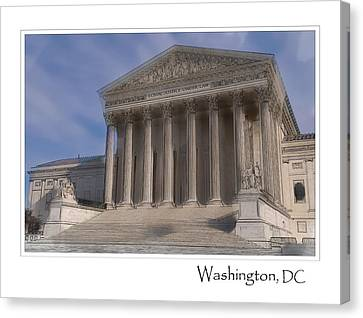 Us Supreme Court Building In Washington Dc Canvas Print