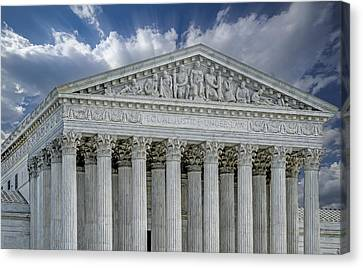 Clouds Canvas Print - Us Supreme Court II by Susan Candelario