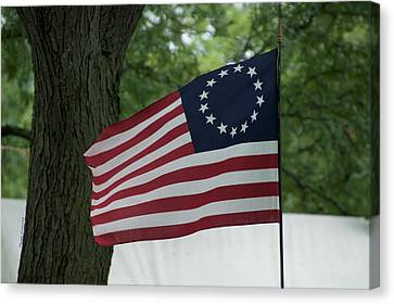 Usa Betsy Ross 13 Star Flag Canvas Print by Thomas Woolworth