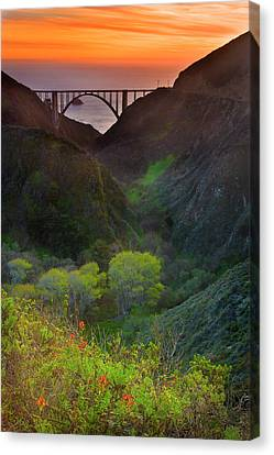 Usa, California, Big Sur, Bixby Bridge Canvas Print by Don Smith