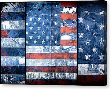 Usa Flag 11 Canvas Print by Bekim Art