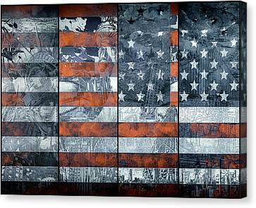 Usa Flag 12 Canvas Print
