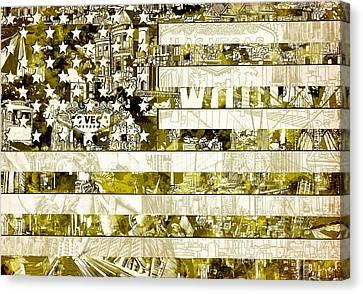 Usa Flag 13 Canvas Print