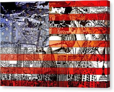 Usa Flag 3 Canvas Print