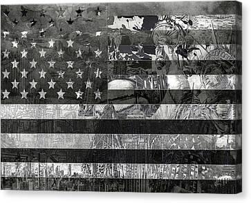 Usa Flag 4 Canvas Print