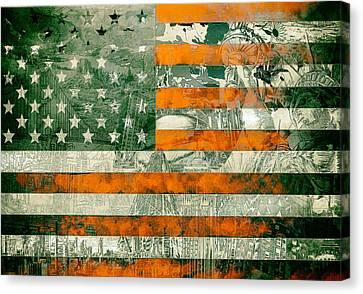 Usa Flag 5 Canvas Print