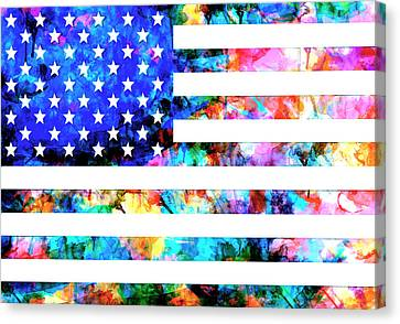 Usa Flag 6 Canvas Print
