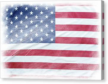 Usa Flag 8 Canvas Print by Les Cunliffe