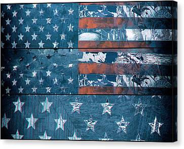 Usa Flag 8 Canvas Print