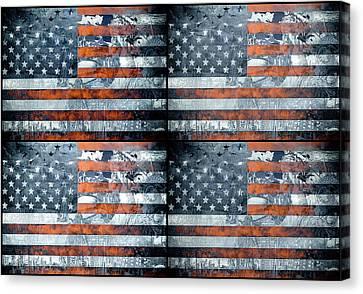 Usa Flag 9 Canvas Print by Bekim Art