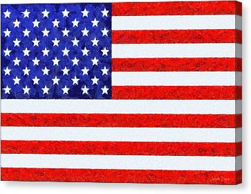 Usa Flag  - Camille Style -  - Da Canvas Print by Leonardo Digenio