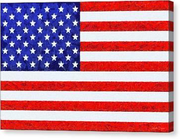 4th July Canvas Print - Usa Flag  - Camille Style -  - Da by Leonardo Digenio