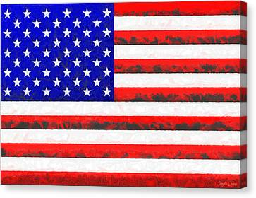 Usa Flag  - Free Colorful Style -  - Pa Canvas Print