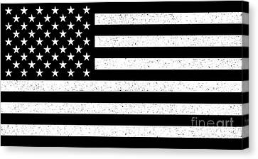 Canvas Print featuring the digital art Usa Flag Hidef Super Grunge Patina by Bruce Stanfield