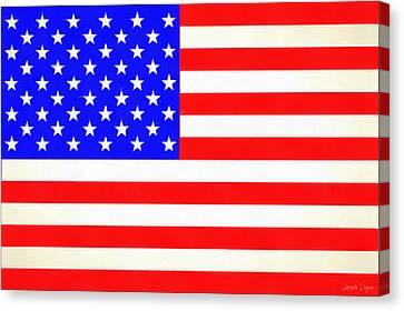 Usa Flag  - Vivid Free Style -  - Pa Canvas Print by Leonardo Digenio