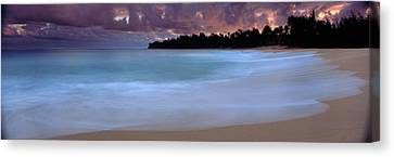 Usa, Hawaii, Kauai, Haena Beach, Storm Canvas Print by Panoramic Images