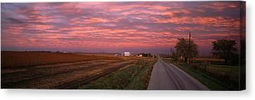 Usa, Illinois, Road Canvas Print by Panoramic Images
