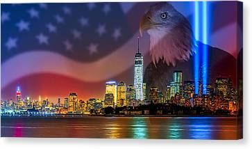 Usa Land Of The Free Canvas Print by Susan Candelario