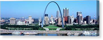 Mississippi River Canvas Print - Usa, Missouri, St. Louis, Gateway Arch by Panoramic Images