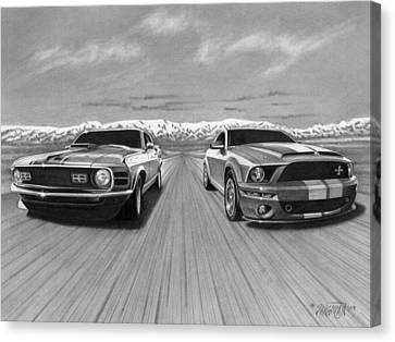 Usa Muscle  Canvas Print