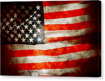 Usa Old Glory Patriot Flag Canvas Print by Phill Petrovic