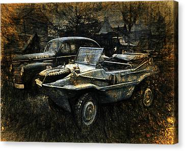 Usa Remains Of The War Canvas Print by Karo Evans