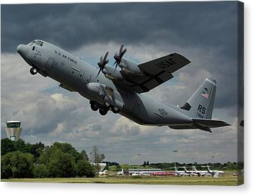 Usaf Lockheed-martin C-130j-30 Hercules  Canvas Print by Tim Beach