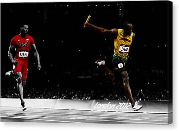 USAIN BOLT FASTEST MAN PHOTO PICTURE PRINT ON FRAMED CANVAS WALL ART DECORATION