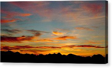 Usery Sunset Canvas Print