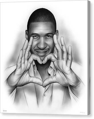 Usher Canvas Print