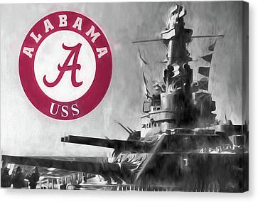 Uss Alabama Crimson Tide Canvas Print