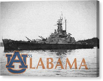 Uss Alabama Canvas Print