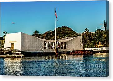 Uss Arizona Memorial Canvas Print by Jon Burch Photography