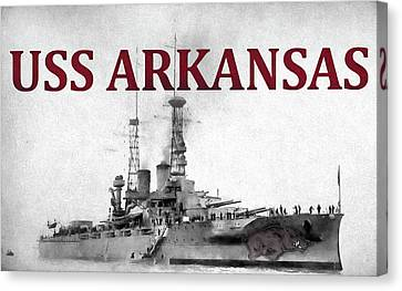 Razorbacks Canvas Print - Uss Arkansas by JC Findley