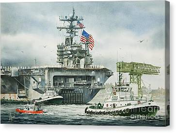 Uss Carl Vinson Canvas Print by James Williamson